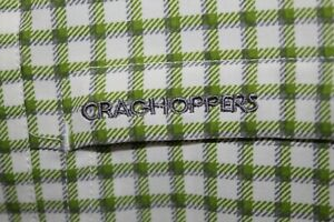 CRAGHOPPERS Insect Shield Shirt Men's S White Green Brown