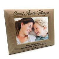 Personalised Special Auntie Wooden Photo Frame Gift FW31