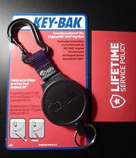 KEY BAK MODEL #6C -  Key Ring Caddy Retractor With CARABINEER