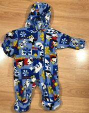 Columbia Baby Bunting Snowsuit Size 0-12 Months Blue With Animal Print