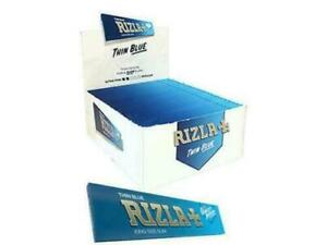 NEW 10 x GENUINE RIZLA BLUE KING SIZE SLIM CIGARETTE SMOKING ROLLING PAPERS