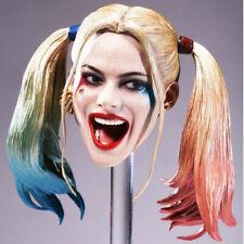 Batman Female Joker Harley Quinn Head Sculpt Smile Fit 1/6 Action Figure High-Q