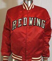 Vintage Starter Detriot Red Wings Vinyl Jacket M NHL RARE HOCKEY