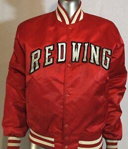 Vintage Starter Detriot Rouge Ailes Vinyle Veste M NHL Rare Hockey