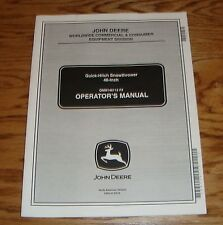 2002 John Deere 46-Inch Quick-Hitch Snowthrower Owners Operators Manual 02