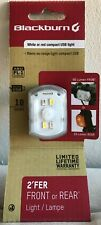 Blackburn 2'Fer Bike Light with USB Charging Cable, Front or Rear, White or Red