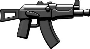 BrickArms AKS-74U Assault Rifle for Minifigures -Soldier Military Soviet -NEW-