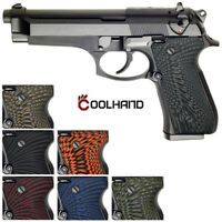 Coolhand G10 Grips for Beretta 92 96 Full Size 92FS M9 A1 Inox Sunburst Texture