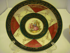 Hand Painted Saucer Made in Occupied Japan People in Center