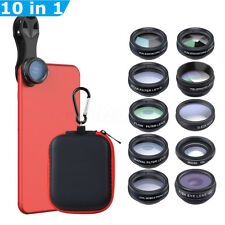 Apexel 10 In 1 Mobile Phone Lens Kit Macro Fisheye Zoom Camera Lens For iPhone 8