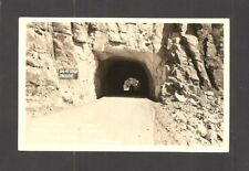 REAL-PHOTO POSTCARD:  CLAYPOOL TUNNEL, MIAMI-SUPERIOR HIGHWAY, ARIZONA - Unused