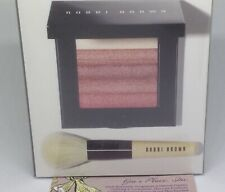 BOBBI BROWN ROSE SHIMMER BRICK W/BRUSH SET LIMITED EDITION GLOW SEALED NEW BOX