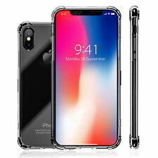 iPhone X Soft TPU Armor Case Cover Clear Shockproof Bumper