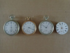 Lot of 3 Vintage Pocket Watches, Elgin, Crown, Standard, Open Faced