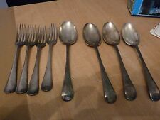 VINTAGE SILVER PLATE CUTLERY - DESERT SPOONS & FORKS - MARKED PLS READ