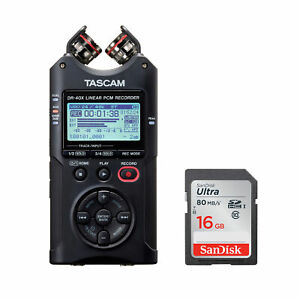 Tascam DR-40X Four-Track Audio Recorder/USB Audio Interface with 16GB SD Card