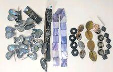 Jewelry Making Supplies Stone Beads Lot of 68 Gems Shell Teardrop