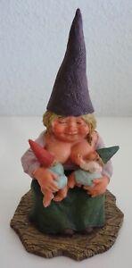 Vintage Egbert Rien Poortvliet Classic Gnomes Catharina Breast Feeding Figurine