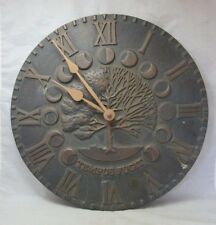 New listing Whitehall indoor/outdoor metal Garden wall clock
