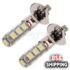 2x H1 5050 13 SMD 6000K LED Xenon White Car Driving Beam Fog Headlight Bulb 12V