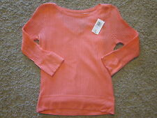 Sutton Studio NWT S Misses Tangerine 2PC  3/4 Sleeves Top & V-Tank Really Cute!