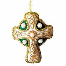 New Irish Celtic Cross Needlework Christmas Tree Ornament  Direct from Ireland