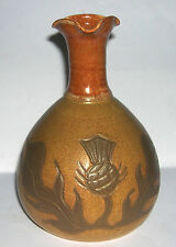 Richmond Ceramic Studio Pottery Scotland - Triple Pourer Bottle Vase - Rare.