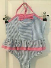 Crown & Ivy kids girls 4 one piece skirted swim swimsuit bow ruffle UPF +50 cute