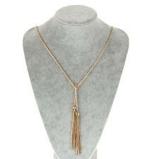 Gold Tassel Long Design Necklaces Long Chain Pebble Necklace Fashion Jewelry