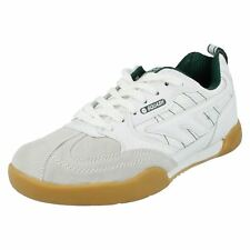 Mens Squash Classic White/green Leather Lace up Trainer by Hi-Tec UK 10