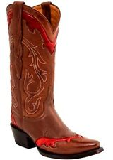 Lucchese M4984 Womens Cognac Leather Western Cowboy Boots Sz 7 B  $ 440