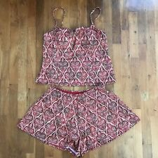 It Figures! Tankini 2-Piece Swimsuit Swim Dress Skort Women's Size 16 Red Tan