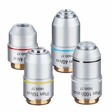 4X -100X 195 Biomicroscope Plan Achromatic Objective Lens RMS Thread 160/0.17