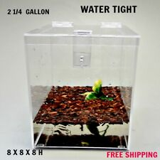 2 1/4 Gallon Cage With Hinged Top / Tarantula,Reptiles,Spider s, Terrarium, Snake
