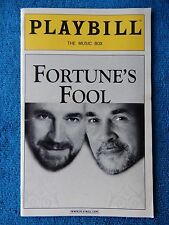 Fortune's Fool - Music Box Theatre Playbill -  April 2002 - Alan Bates