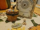 """Boyds Bears Treasure Box """"Flopsie's Easter Basket with Cocoa McNibble"""""""