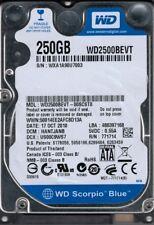 WD2500BEVT-00SCST0 DCM: HANTJANB WXA1A Western Digital 250GB