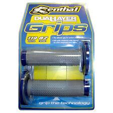 Renthal Dual Compound Handlebar Grips-Blue
