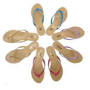 Ladies Women's Slip On Summer Toe Post Beach Flip Flops All Sizes