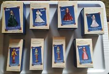 Lot of 8 Hallmark Keepsake Barbie Ornaments
