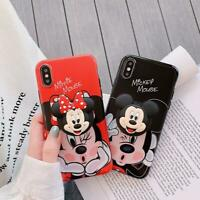 Minnie Stitch Disney Phone case With Stand Holder For iPhone XS Max XR 6S 8Plus