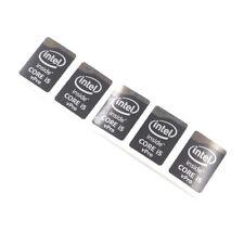 5X  inside CORE i5 vPro Laptop PC Sticker Label Decal Black 21*15.5mm ST076
