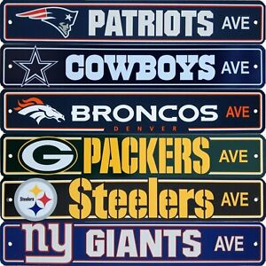 Official NFL Football Street Sign Ave Licensed Durable Man Cave