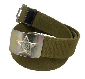 Soviet Military Army Canvas Belt w/USSR Star Buckle #34