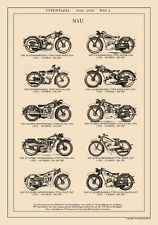 MOTORRÄDER D-TOUREN SPORTMODELL QUICK BLOCK PONY A3 Typentafel 1934 - 1938 NSU 2