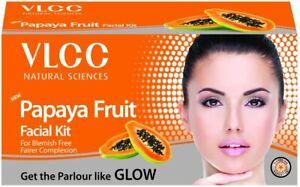 VLCC Papaya Fruit Facial Kit, 60g For Blemish Free Fairer Complexion