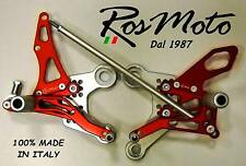 PEDANE ARRETRATE REARSETS YAMAHA MT 09 ROSSO RED
