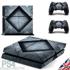 PS4 3D Metal Effect Skin Sticker Cover Decal Wrap PlayStation Console Controller