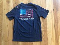 NWT Boy's Vineyard Vines Lacrosse Flag Whale Pocket T-Shirt Size L Or XL