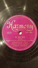 JAZZ 78rpm RECORD Harmony HORACE HEIDT Musical Knights THE THREE TREES / CARLE..